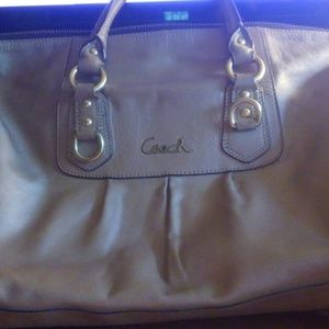 Coach ASHLEY Hobo GOLD Leather Bag #D1126-F15447